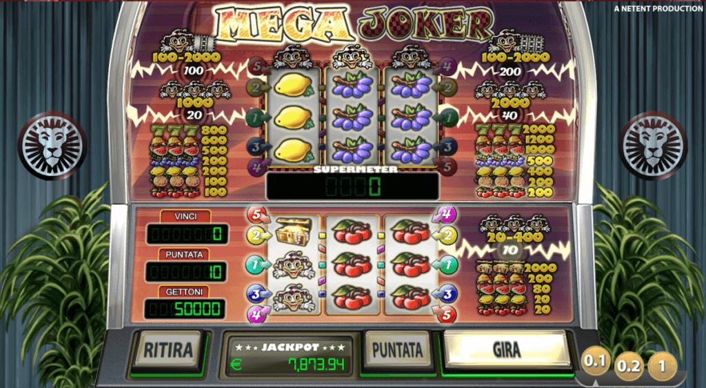 Mega Joker video slot con alto RTP