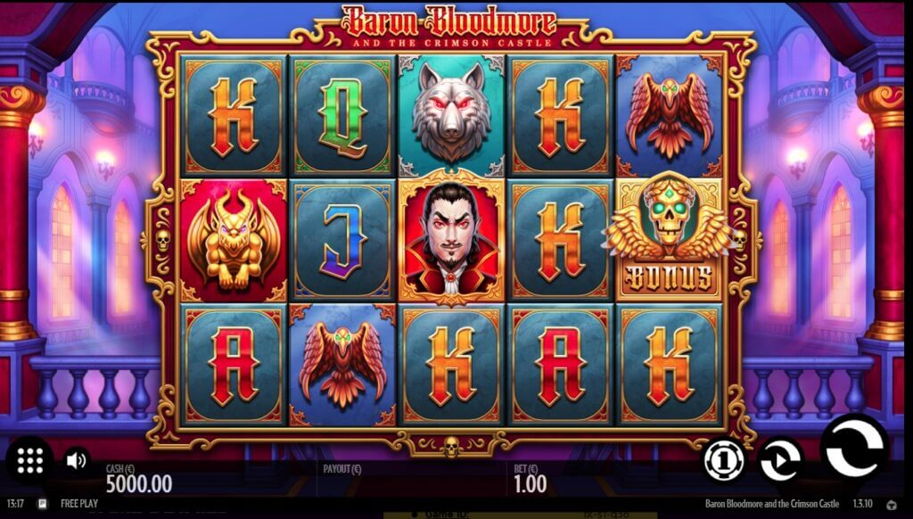 Il mio primo impatto con la slot machine online Baron Bloodmore and the Crimson Castle.