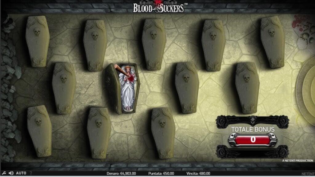 Il Bonus Game della slot online Blood Suckers.