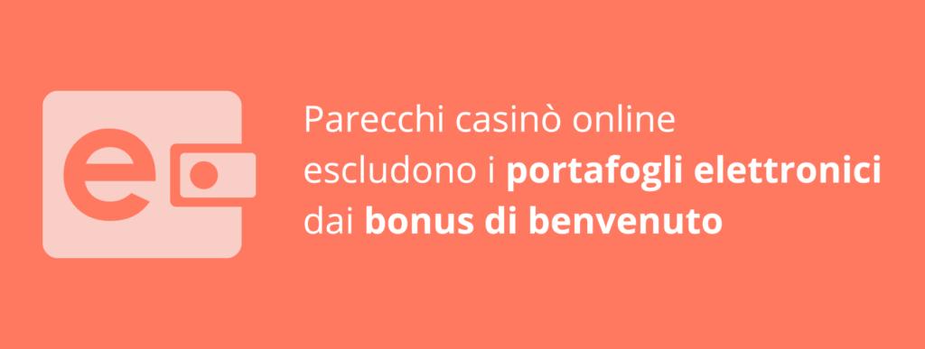 Usare un metodo di pagamento per attivare il bonus di benvenuto