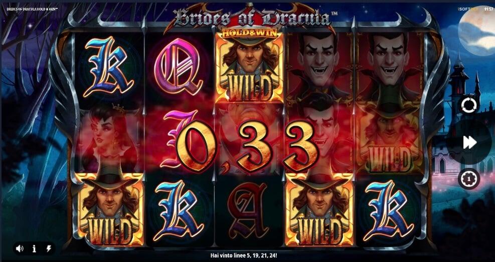 Benvenuti nell'oscurità della video slot online Brides of Dracula.