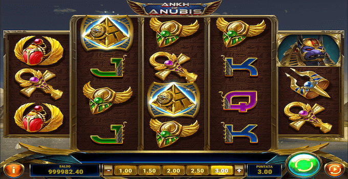 La slot machine Ankh of Anubis