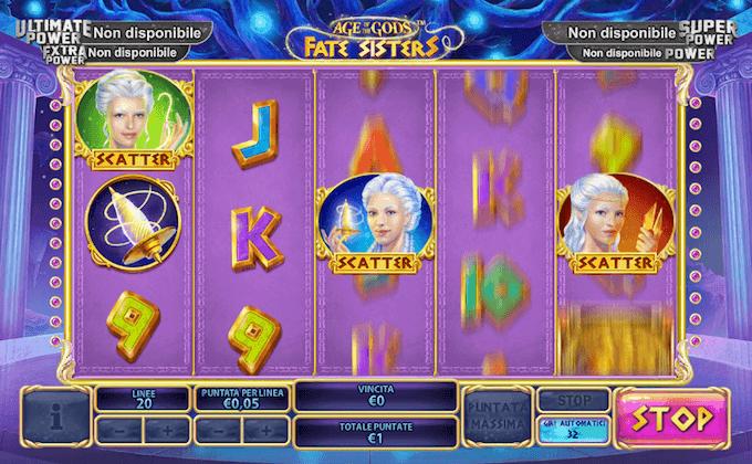 Le divinità greche e i giri gratis nella video slot Playtech