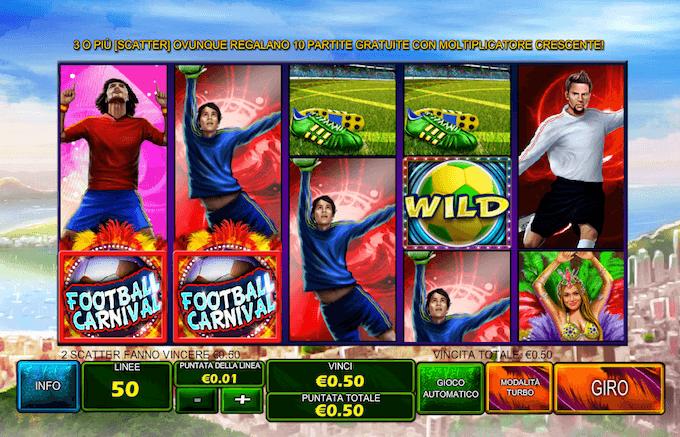 La video slot Playtech - Football Carnival