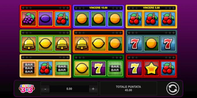 Slot machine Fruity 3x3