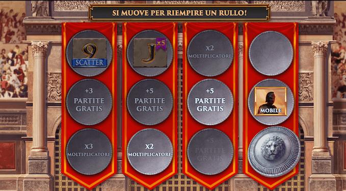 Gladiator Road to Rome - Le funzioni della slot con jackpot