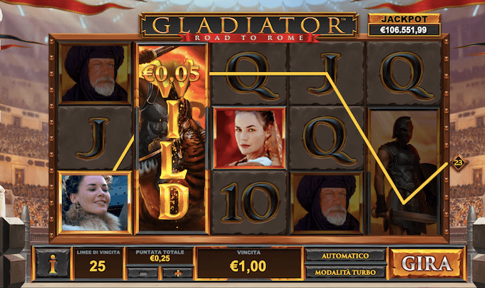 Gladiator Road to Rome - Slot con jackpot