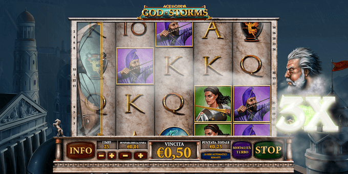 Giocare a God of Storms nei casinò AAMS - Le slot con jackpot progressivi