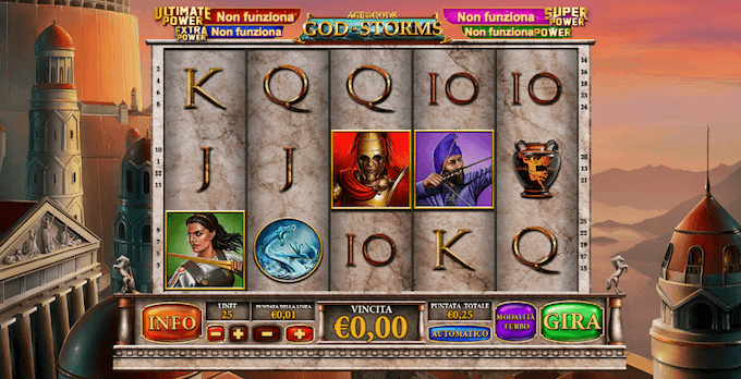 La slot con jackpot progressivi God of Storms nei casinò online AAMS