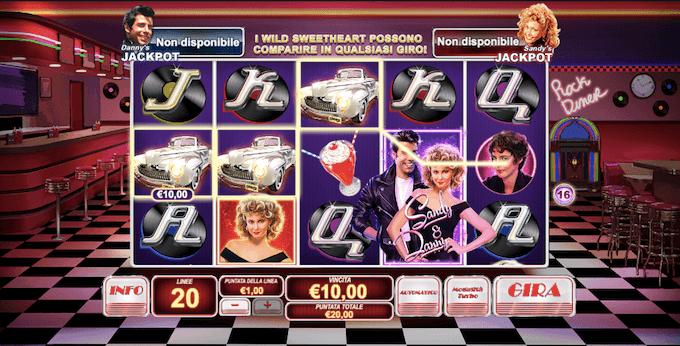Grease - Ispirata al famoso film, ecco la slot per casinò online