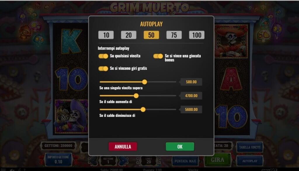 Hai mai provato il gioco automatico sulla slot machine Grim Muerto?
