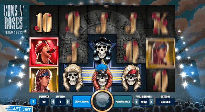 La funzione Appetite for Destruction della slot dedicata ai Guns n Roses