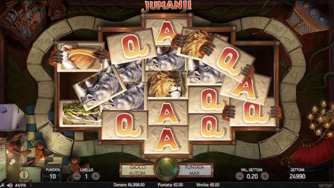 Jumanji - Benvenuti nella giungla con la slot Netent!