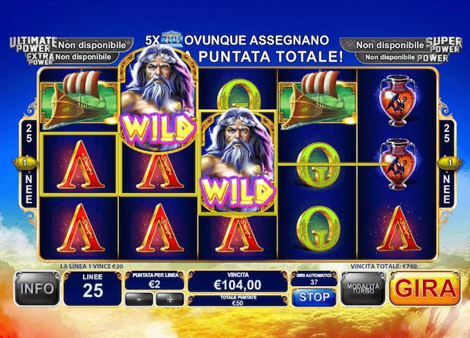 King of Olympus - La recensione del gioco con jackpot progressivo, su CasinoItaliani