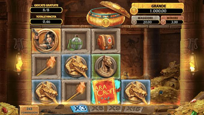 Slot machine Lara Croft Temples and Tombs
