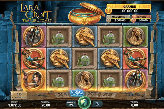 Lara Croft Temples and Tombs - Slot machine