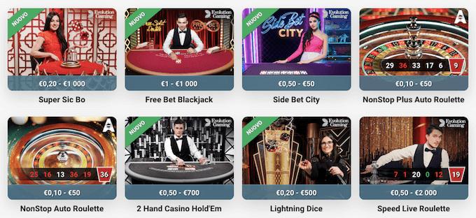 Giochi, slot e bonus di benvenuto di LeoVegas.it