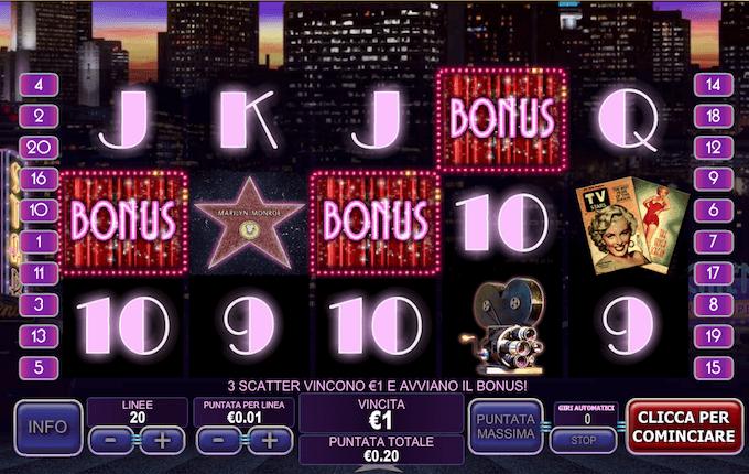 La slot Marilyn Monroe di Playtech - Backstage Bonus e tanto altro!