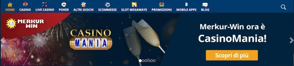 Interfaccia del casinò Merkur Win