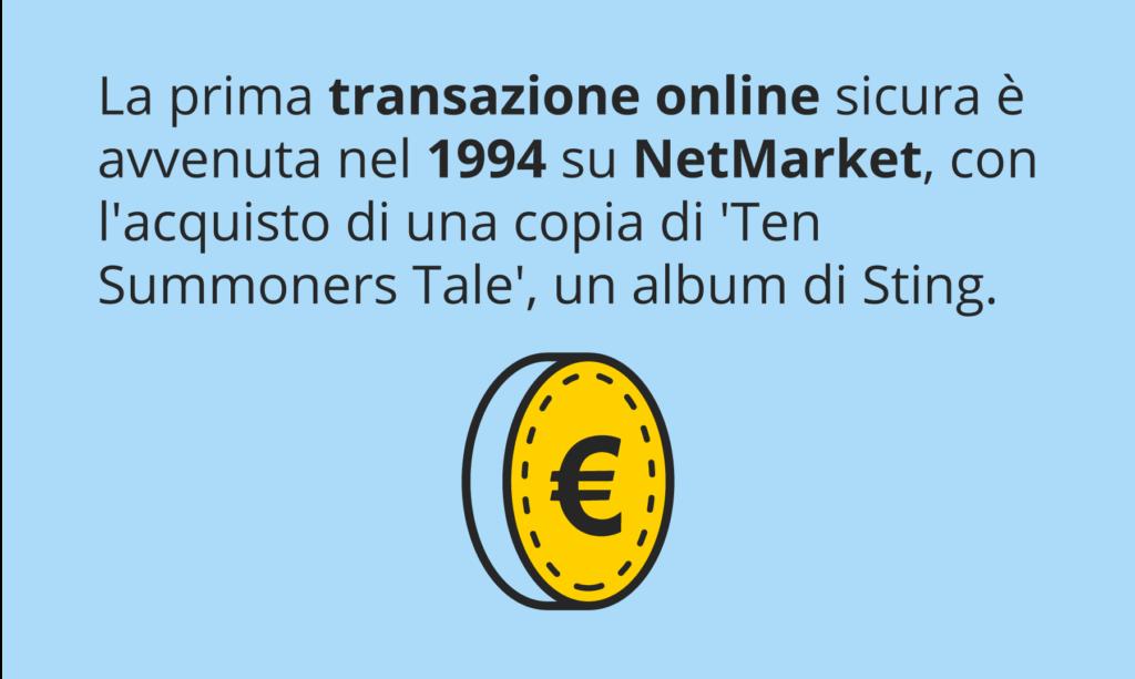 Prima transazione online sicura