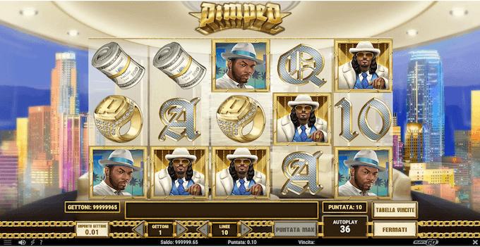 Pimped - schermata della slot machine