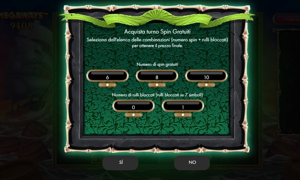 Come acquistare i bonus dei giri gratuiti sulla slot Pirate Kingdom Megaways.