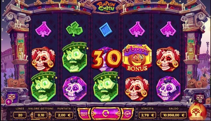 Inizia l'avventura nella slot machine online Pumpkin Smash.