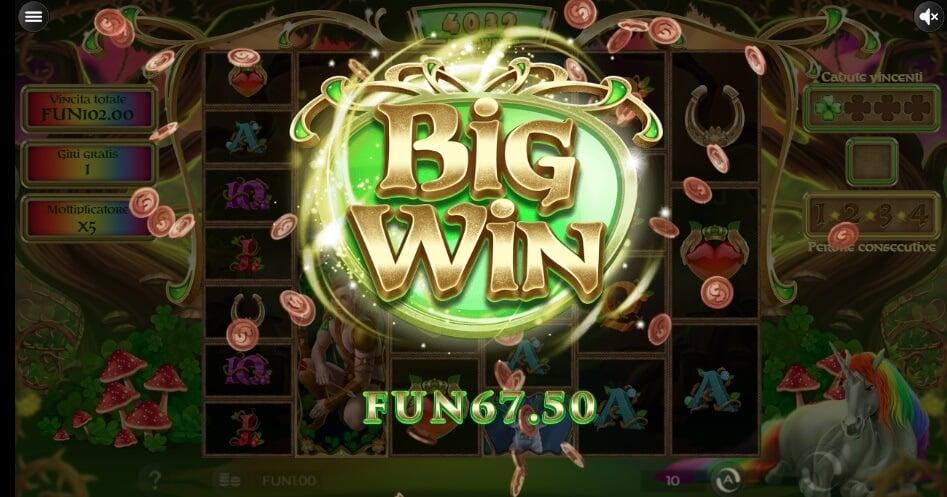 Una grande vincita alla slot Rainbow Wilds Megaways.