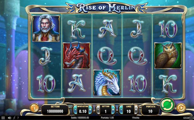 Rise of Merlin - Schermata iniziale
