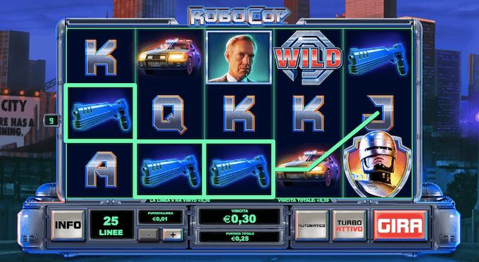 Robocop - La video slot dei casino online