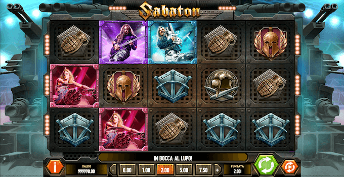 Sabaton - La slot machine online