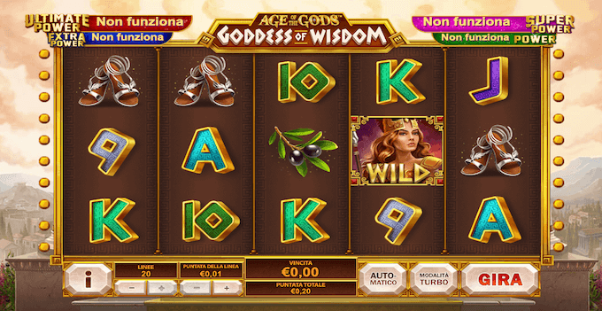 La schermata do Age of the Gods: Goddess of Wisdom
