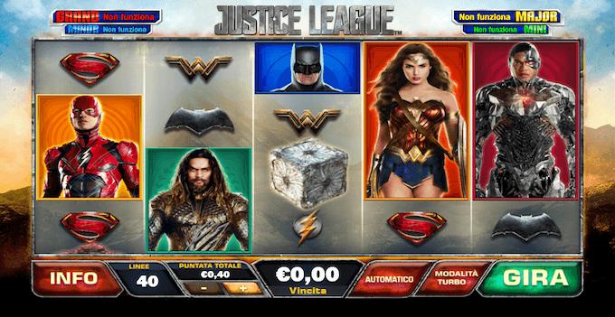La slot machine Justice League