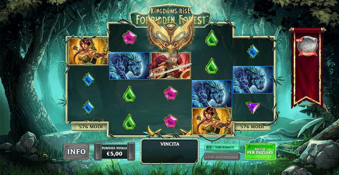 La slot machine Kingdoms Rise: Forbidden Forest