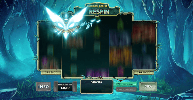 Il Respin Owl della slot machine Kingdoms Rise: Forbidden Forest