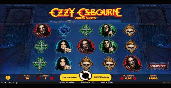 La slot machine Ozzy Osbourne