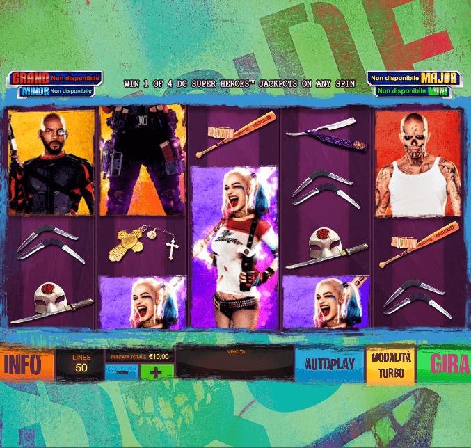 Suicide Squad - Schermata principale della slot