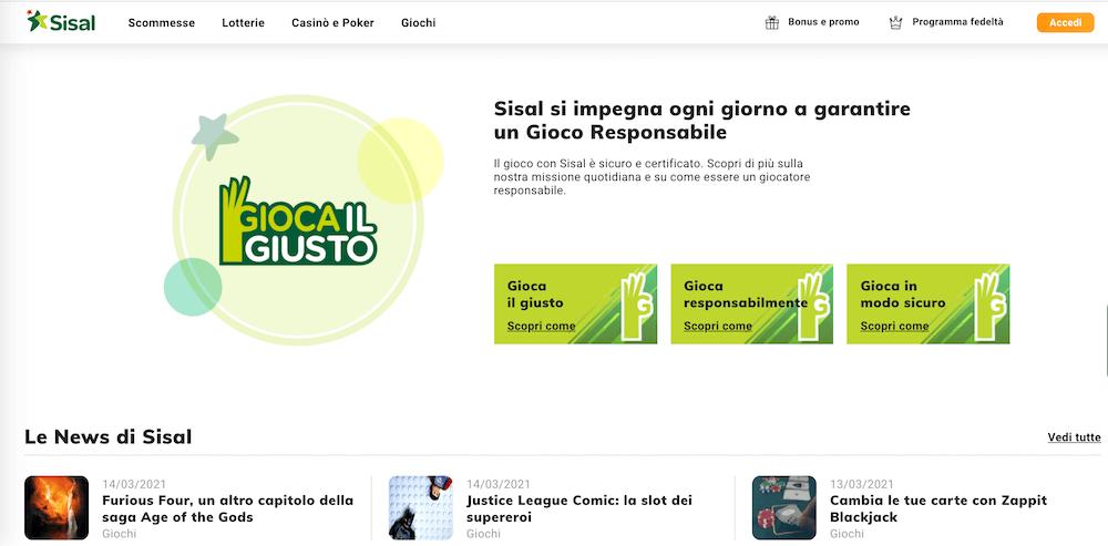 Sisal - La piattaforma online