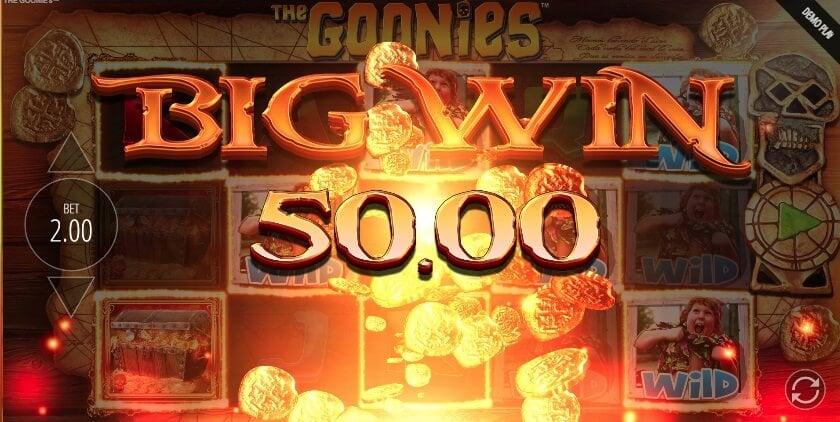 Vincita alla slot the Goonies.