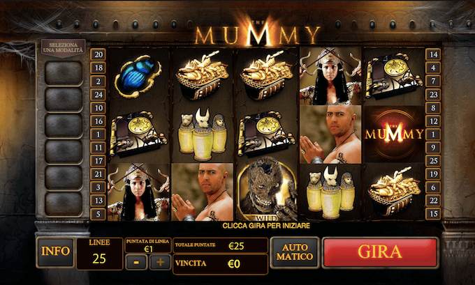 Slot machine di The Mummy