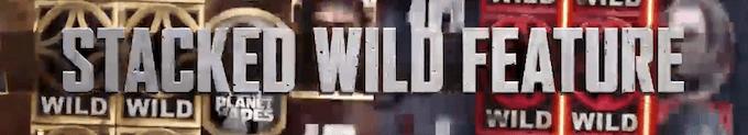 La funzione Stacked Wild della slot Planet of the Apes