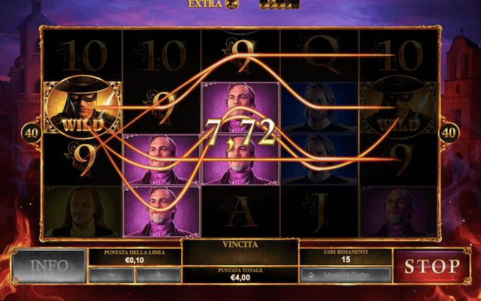 Playtech - Slot machine The Mask of Zorro