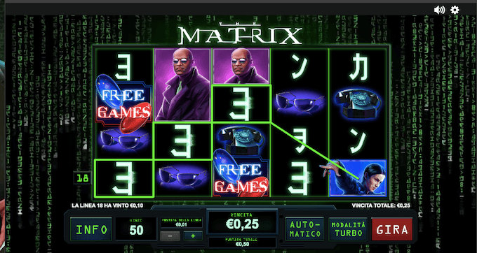 The Matrix - Scopri di più sulla slot machine ispirata ai casinò online!