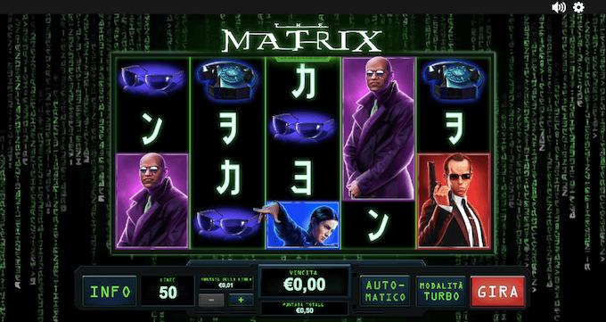 The Matrix - Scopri le funzioni della slot machine dei casinò online!