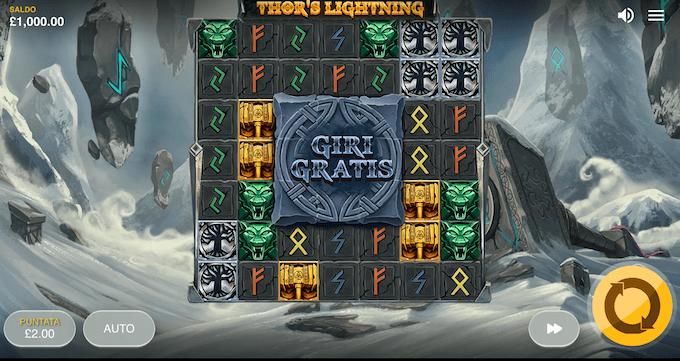 La slot machine Thor's Lightning di Red Tiger