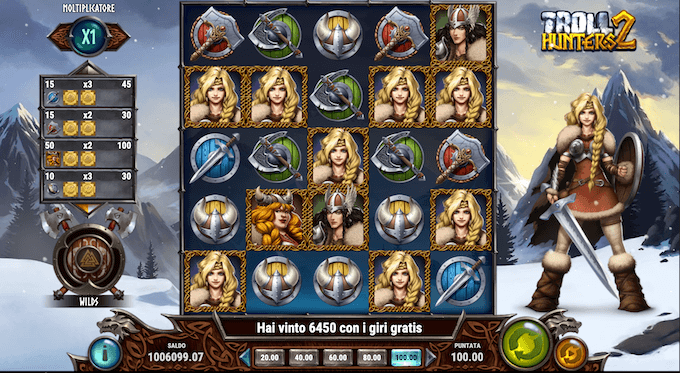 La slot machine Troll Hunters 2