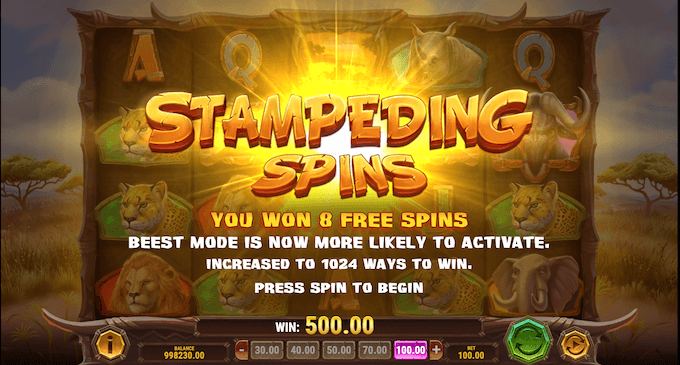 Win-A-Beest - Stampeding Spins